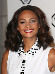 Alesha Dixon styled her hair in high-volume waves for the Cosmopolitan Ultimate Women of the Year Awards.