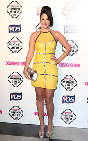 Tulisa shined at the Cosmo Ultimate Woman of the Year Awards in this yellow ruched cocktail dress.
