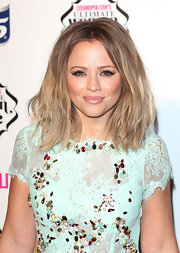 Kimberley wore her hair in a crimped shoulder-sweeping style for the Cosmo Ultimate Woman of the Year Awards.