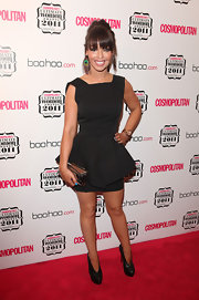 Kate Piper was perfectly on trend at the Cosmopolitan Ultimate Women of the Year Awards in a black peplum dress.