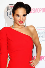 Tulisa Contostavlos wore her hair styled in a classic side bun at the 2011 'Cosmopolitan' Ultimate Women of the Year Awards.
