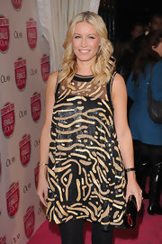 Denise van Outen looked pretty in her printed sheer dress at the Cosmopolitan Ultimate Women of the Year Awards.