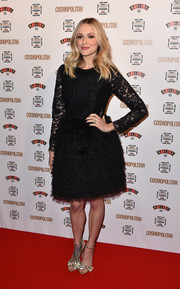 Fearne Cotton donned a frilly little black dress, featuring a fitted lace bodice and a full, tiered skirt, for the Cosmopolitan Ultimate Women of the Year Awards.