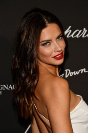 Adriana Lima wore her hair down in piecey waves at the Creatures of the Night Late-Night Soiree.