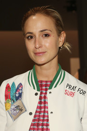 Elisabeth von Thurn und Taxis styled her hair into a casual bun for the Creatures of the Wind Spring 2016 show.
