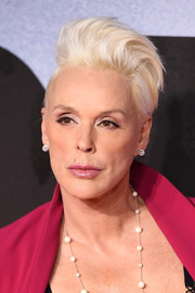 Brigitte Nielsen was a rockstar with her platinum-blonde fauxhawk at the European premiere of 'Creed II.'