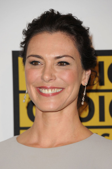 More Pics of Michelle Forbes Gemstone Inlaid Clutch (2 of 5) - Clutches Lookbook - StyleBistro [hair,face,eyebrow,facial expression,hairstyle,chin,head,forehead,smile,beauty,arrivals,michelle forbes,beverly hills hotel,california,critics choice television awards]