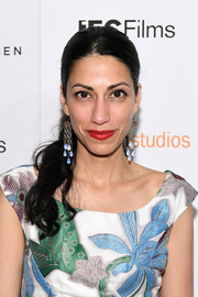 Huma Abedin attended the New York premiere of 'Crown Heights' wearing her hair in a side-swept ponytail.