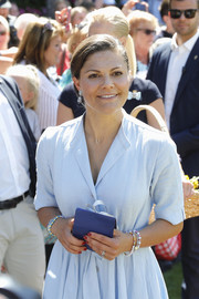 Princess Victoria accessorized with some beaded bracelets for her 40th birthday celebration at Solliden Palace.