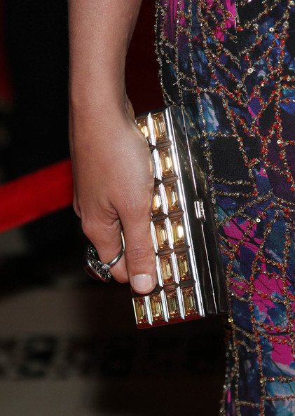 Crystal Renn Gemstone Inlaid Clutch [nail,fashion,joint,finger,hand,leg,fashion accessory,wrist,haute couture,dress,youth,crystal renn,clutch detail,foster care,cipriani 42nd street,new york city,new yorkers for children presents 14th annual fall gala - arrivals]