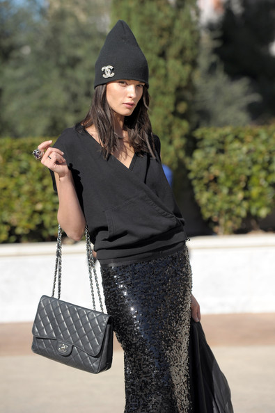 Crystal Renn Knit Beanie [clothing,black,street fashion,handbag,fashion,beanie,shoulder,bag,fashion accessory,fashion model,si swimsuit models,crystal renn,muhammad ali,caesars palace,las vegas,nevada,si,celebration,swimsuit launch week,birthday]