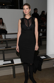 Ivanka Trump flashed some cleavage at the Cushnie et Ochs fashion show in a little black dress with a sheer neckline.