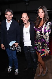 Malena Costa attended Custo Barcelona's presentation carrying a pretty sequined purse.