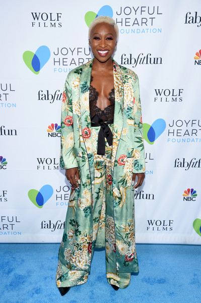 Cynthia Erivo Pantsuit [joyful heart foundation hosts the joyful revolution gala,fashion design,fashion,carpet,flooring,outerwear,red carpet,style,smile,premiere,mariska hargitay,cynthia erivo,new york city,joyful heart foundation,the joyful revolution gala]