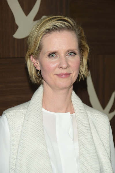 Cynthia Nixon Bob [hair,face,blond,hairstyle,beauty,chin,lip,smile,long hair,makeover,cynthia nixon,grey goose blue door,park city,pennsylvania,stockholm,utah,party,sundance - 2015]