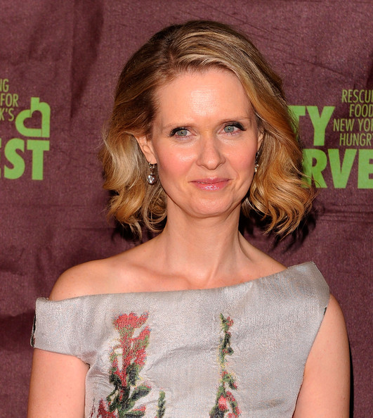 Cynthia Nixon Short Wavy Cut [an evening of practical magic,hair,hairstyle,shoulder,blond,beauty,eyebrow,brown hair,chin,premiere,layered hair,cynthia nixon,arrivals,cipriani 42nd street,new york city,host city harvest]