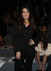 Kimberly Guilfoyle toned down the sultriness of her sheer blouse with a stylish black blazer.