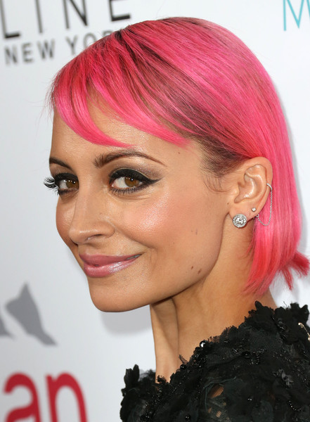 More Pics of Nicole Richie Side Parted Straight Cut (1 of 6) - Nicole Richie Lookbook - StyleBistro [hair,pink,eyebrow,human hair color,hairstyle,chin,hair coloring,forehead,blond,lip,fashion los angeles awards,daily front row,front row,west hollywood,california,sunset tower hotel,nicole richie,arrivals]