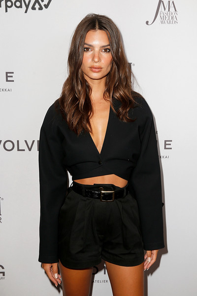 More Pics of Emily Ratajkowski Strappy Sandals (5 of 6) - Emily Ratajkowski Lookbook - StyleBistro [clothing,black,hairstyle,fashion,beauty,dress,fashion model,little black dress,brown hair,long hair,emily ratajkowski,2019 fashion media awards,new york city,the rainbow room,daily front row,the daily front row]