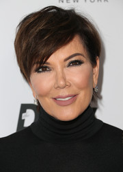 Kris Jenner looked punk-chic wearing this mildly messy 'do at the Fashion Los Angeles Awards.