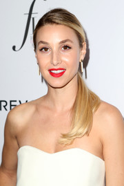 Whitney Port sported a demure side-parted ponytail at the Fashion Los Angeles Awards.