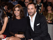 Carine Roitfeld attended the Fashion Media Awards holding a Tom Ford TF leather purse.