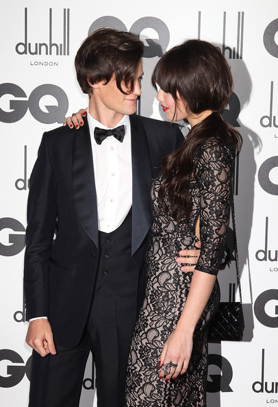 Daisy Lowe Statement Ring [clothing,suit,formal wear,hairstyle,tuxedo,eyewear,outerwear,blazer,dress,tie,gq men of the year awards,matt smith,daisy lowe,england,london,the royal opera house]