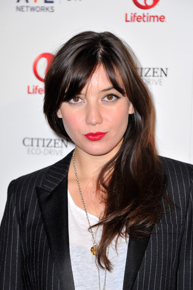 Daisy Lowe Red Lipstick [hair,hairstyle,layered hair,long hair,brown hair,lip,eyebrow,black hair,chin,bangs,red carpet arrivals,daisy lowe,london,england,one marylebone,lifetime,launch party,launch]