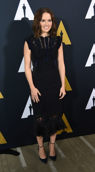 Daisy Ridley Lace Dress