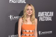 Dakota Fanning Cutout Dress