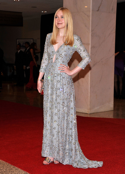 Dakota Fanning Beaded Dress