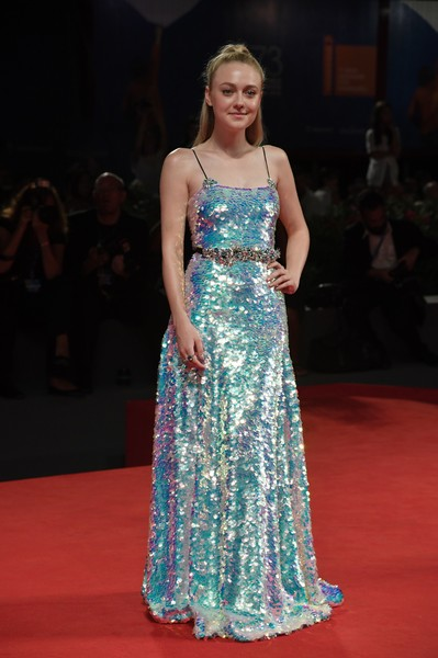 Dakota Fanning Sequin Dress