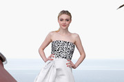 Dakota Fanning Strapless Dress