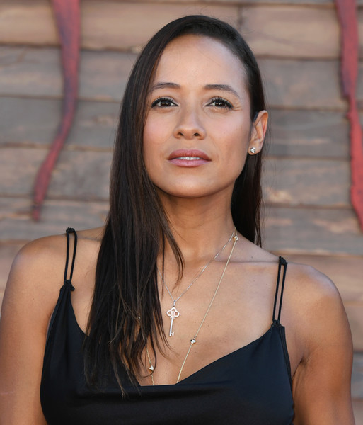 Dania Ramirez Long Straight Cut [it chapter two,hair,face,shoulder,lady,beauty,hairstyle,chin,skin,neck,lip,arrivals,dania ramirez,california,regency village theatre,warner bros. pictures,westwood,premiere]