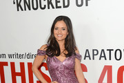 Danica McKellar Off-the-Shoulder Dress