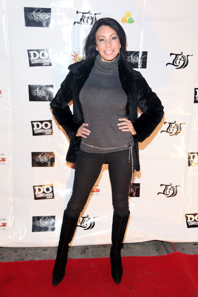 Danielle Staub Knee High Boots [the real housewives of new jersey,clothing,tights,carpet,leggings,red carpet,joint,shoulder,leg,footwear,fashion,vinny guadagnino,danielle staub,ihav clothing line,tv personality,new york city,greenhouse,launch party,ihav clothing line launch party]