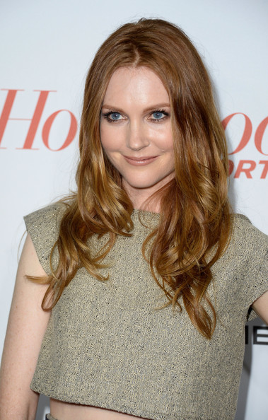 Darby Stanchfield Long Wavy Cut [hair,hairstyle,face,blond,brown hair,hair coloring,layered hair,long hair,eyebrow,chin,arrivals,darby stanchfield,west hollywood,california,soho house,hollywood reporter,emmy party,the hollywood reporter]