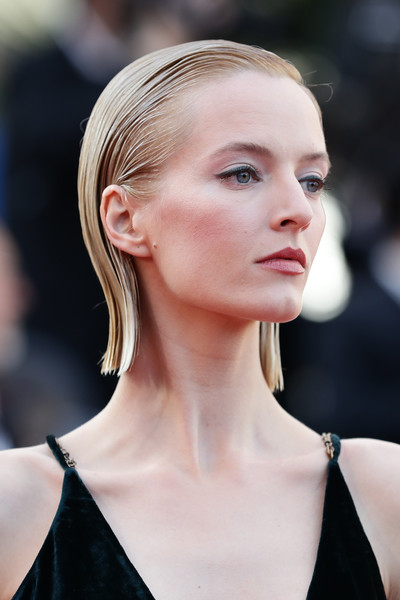 Daria Strokous Side Parted Straight Cut [rocket man,hair,face,blond,hairstyle,lip,eyebrow,beauty,skin,fashion,chin,daria strokous,rocketman red carpet,screening,cannes,france,the 72nd annual cannes film festival]
