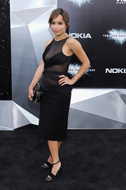 Zoe Kravitz showed some skin in this sheer LBD at the 'Dark Knight Rises' premiere.