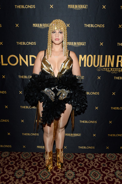 Dascha Polanco Ankle Boots [the shows,shows,the blonds,clothing,dress,fashion,carpet,ringlet,cocktail dress,haute couture,fashion design,fashion model,little black dress,moulin rouge,dascha polanco,musical - front row,new york city,blonds,new york fashion week]