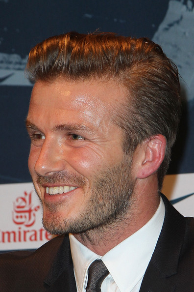 More Pics of David Beckham Short Side Part (7 of 30) - David Beckham Lookbook - StyleBistro