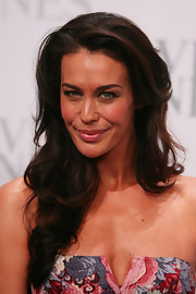 Megan Gale styled her hair in summer-chic waves for the David Jones collection launch.