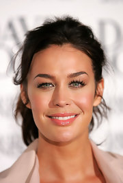 Megan Gale looked sassy at the David Jones spring/summer season launch wearing her hair in a messy-chic ponytail.