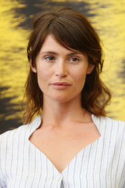 Gemma Arterton was a bare-faced beauty with messy half-up hair during the Locarno Film Fest photocall for 'The Girl with All the Gifts.'