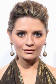 Mischa Barton styled her hair into a teased ponytail for the De Grisogono party.