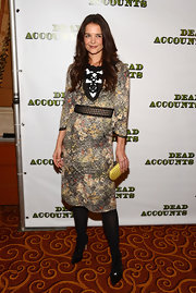 Katie's dress choice at the 'Dead Accounts' opening night was edgy and artistic in a classy way.