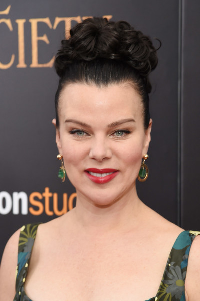Debi Mazar Pinned Up Ringlets [lionsgate with the cinema society host,hair,face,hairstyle,eyebrow,lip,chin,forehead,beauty,eyelash,black hair,arrivals,debi mazar,paris theatre,new york city,amazon,cafe society,the new york,premiere,premiere]