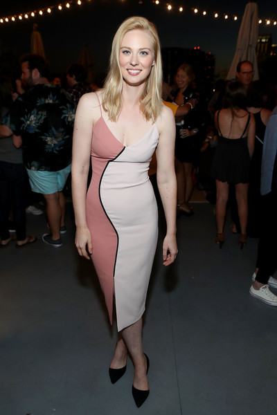 Deborah Ann Woll Form-Fitting Dress