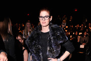 Debra Messing Fur Coat