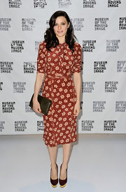 Rachel Weisz looked darling in this '70s floral print dress at the 'Deep Blue Sea' screening.
